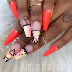 Stunning pattern nails