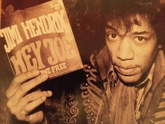 Jimi with a copy of his first single in 67