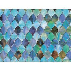 Brewster W x L Blue Geometric Decorative Window Film at Lowe's. With a stylish design inspired by peacock feathers, this premium privacy window film creates a chic stained glass effect. Sidelight Windows, Windows And Doors, Bay Windows, Window Decals, Wall Decals, Window Stickers, Home Depot, Film Texture, Dc Fix