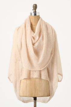 floating chrysalis cowlneck in pink by anthropologie.