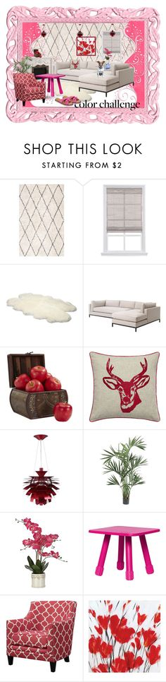"""""""Red and Pink"""" by airin-flowers on Polyvore featuring interior, interiors, interior design, дом, home decor, interior decorating, UGG Australia, Nearly Natural, Fatboy и Dearfoams"""
