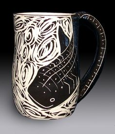 Whale Shark Mug by rhoneypots on Etsy, $39.00