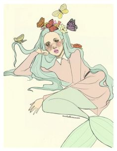 Miss Lumpalinda drawings — We are all princesses part 3, this time a mermaid...