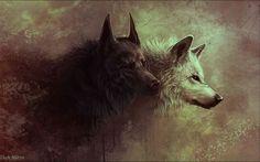 Fonds d'écran Art - Peinture > Fonds d'écran Animaux Loups par bawa - Hebus.com