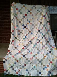 darling antique quilt top... <3