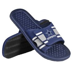 Dallas Cowboys NFL Football Youth Stripe Shower Slide Sandals / Flip Flops * Check this awesome image  : Girls sandals