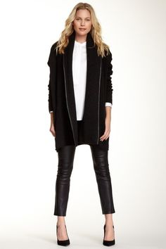 Leather Cropped Legging by VINCE on @HauteLook