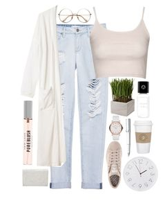 """""""spring is here"""" by annamausi ❤ liked on Polyvore featuring Marc by Marc Jacobs, Paige Denim, Topshop, adidas, Monki, A Lab on Fire, Diamantini & Domeniconi, Lamy, Alexander Wang and cutecardigan"""