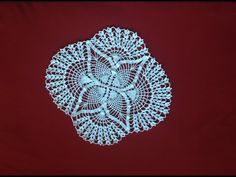 Crochet Oval Pineapple Lace Doily part 2