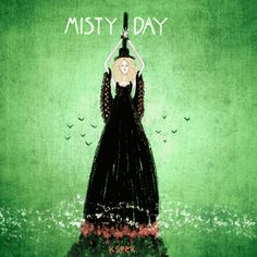 Ilustración animada de Misty Day, de American Horror Story, Coven.