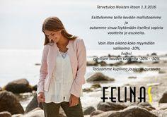 Tapahtumat | Felinas - naisten vaateliike - kokoja XS-3XL