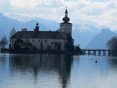 Seeschloss Ort Salzburg, San Francisco Ferry, Austria, Spaces, Building, Travel, Places, Viajes, Buildings
