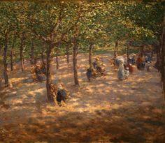 Antonin Slavicek - Letna Park, oil on canvas
