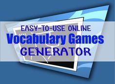 online vocabulary games generator