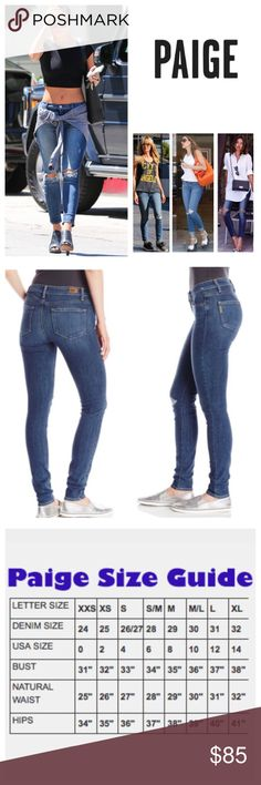 """Paige Troy Destructed Verdugo Ankle Jeans.  NWT. Anthropologie Paige Troy Destructed Verdugo Ankle Skinny Jeans, 91% cotton, 7% polyester, 2% elastanne, machine washable, 29"""" waist, 8.5"""" front rise, 13"""" back rise, 28.6"""" inseam, 10"""" leg opening (all around), stretchy, distressed areas on front waist and front left pocket, ripped torn knees and thigh area, light fading, whiskering, five pockets, belt loops, measurements are approx. No Trades Anthropologie Jeans Skinny"""