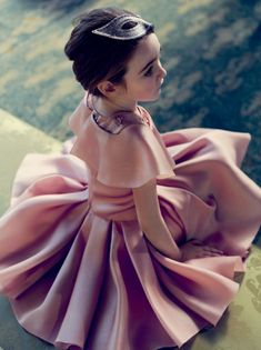 Stunning satin party dress for Holiday 2014 from Baby Dior girlswear