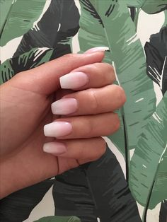 French Ombré / French fade nails