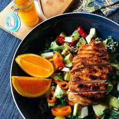 Flavorgod grilled chicken salad.