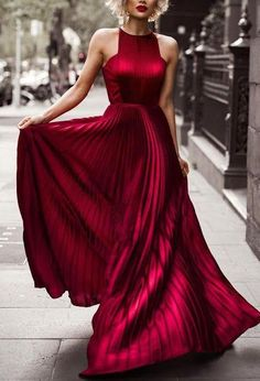 Burgundy Prom Dresses,Pleated Evening Dresses,Long Prom Dresses