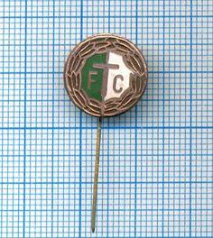 Old Football Club Badge/Pin Ferencvarosi TC Budapest Hungary (model #4)