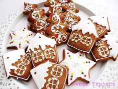 Merry Xmas, Xmas Decorations, Gingerbread Cookies, Baked Goods, Cookie Recipes, Smoothies, Diy And Crafts, Sweet Treats, Food And Drink