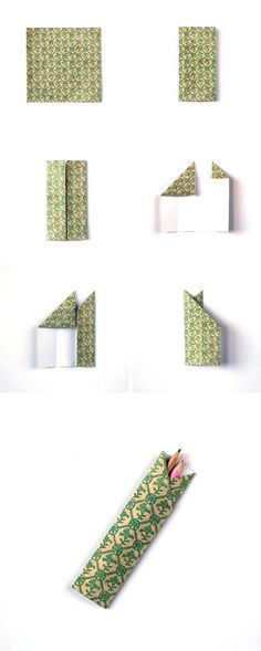 Best Origami Tutorials - Origami Pencil Holder- Easy DIY Origami Tutorial Projects for With Instructions for Flowers, Dog, Gift Box, Star, Owl, Buttlerfly, Heart and Bookmark, Animals - Fun Paper Crafts for Teens, Kids and Adults http://diyprojectsforteens.com/best-origami-tutorials