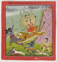 DURGA SLAYING THE BUFFALO DEMON (MAHISHASURA MARDINI)