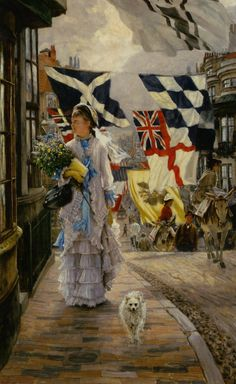 I think I need to add flags to my list of things to buy  Fete Day at Brighton: James Jacques Joseph Tissot