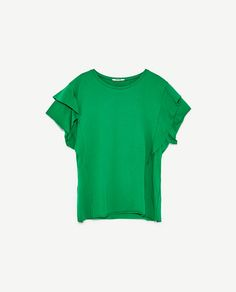 c6f25574fde17 FRILLED SLEEVE T - SHIRT-View All-T-SHIRTS-WOMAN-SALE