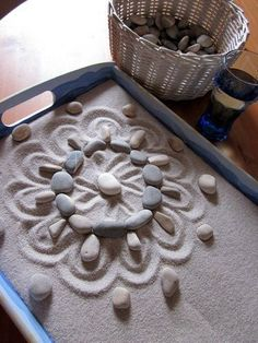 Here's a nice idea for using natural materials to explore symmetry.