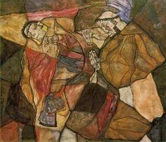 agonie 1912 - (Egon Schiele)