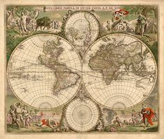 Vintage world map background artists hd wallpapers and pictures mapas antiguos megapost old mapsantique gumiabroncs Gallery