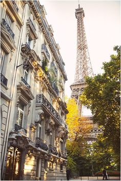 This is everything we love about the 7th arrondissement! Eiffel tower Paris   Image by Babb Photo, read more http://www.frenchweddingstyle.com/rock-the-frock-paris-babb-photo/