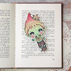Leafy  bookmark by ribonitachocolat on Etsy