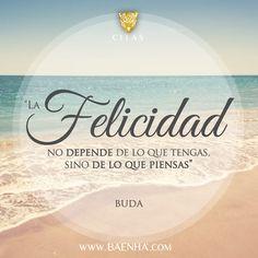 """""""La felicidad no depende de lo que tengas . .. """" #cita #quote #felicidad"""