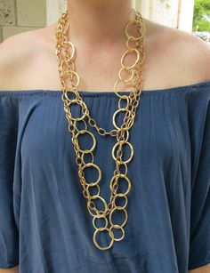 GILT-Y!  We love layers and layers of gold chains