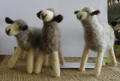 Felted Sheep by MoveGreenArts on Etsy