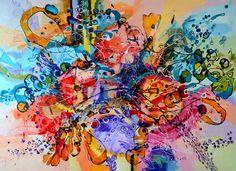 """Saatchi Art Artist Elena Bissinger; Painting, """"SOLD Primaveri pretioase,abstract by E.Bissinger"""" #art"""