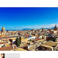 Palermo on the top! Photo @federica.cipri  OFFICIAL TAG #moresicily #palermo #panorama #roof #tetti #skylovers