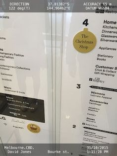 Sticker on mall directory tells of Christmas shopping #retail #mall #shopping #design #advertising #marketing #boutiques #engineer #usa
