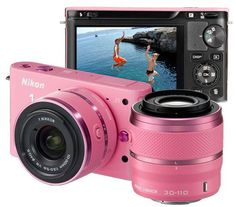 Nikon 1 J1 Digital Camera - maybe not in pink, but this is one heck of a tiny unit