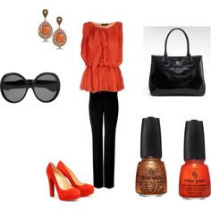 Orange, created by afrey12 on Polyvore