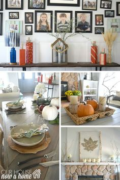 hundreds of fall decor ideas. Amazing DIY and rustic fall home tour! Fall season is officially upon us, this fall home tour is full of low cost, and DIY decor ideas. Really good tips on how to blend seasonal decor with existing decor, keeping it simple and casual to decorate your home!