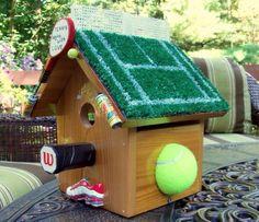 DIY tennis themed bird house