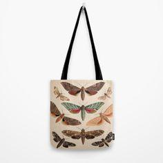 Vintage Natural History Moths Tote Bag   Society6
