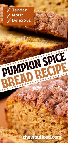 Our best pumpkin bread delivers hugely on the moistness scale, with a soft tender crumb inside, thanks to the wonderful addition of cream cheese. And, we're not shy with the amount of spice, giving it enough seasonal oomph to call it Pumpkin Spice Bread. Best Pumpkin Bread Recipe, Pumpkin Spice Bread, Baked Pumpkin, Pumpkin Recipes, Nectarine And Banana Smoothie, Basic Butter Cookies Recipe, Pumpkin Cream Cheeses, Almond Flour Recipes, Pumpkin Dessert