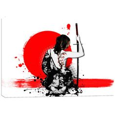 Japanese samurai art | Wayfair art that i can reproduce and make any size i want.