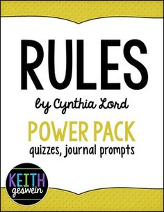 Are rules by cynthia lord 22 journal prompts rules by cynthia lord