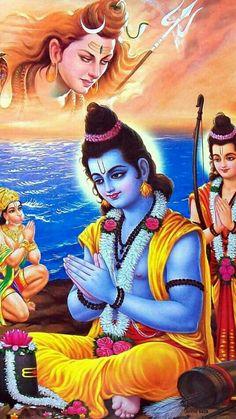 """हम महादेव के दीवाने' है"""" तान"""" के"""" सीना  चलते"""" है"""" ये"""" महादेव"""" का'' जंगल है यहाँ  शेर श्री राम के पलते है.!! हर हर महादेव Shree Ram Images, Jay Shri Ram, Shri Ram Wallpaper, Ram Hanuman, Rama Image, Hanuman Images, Hd Wallpapers 1080p, Lord Vishnu Wallpapers, Lord Shiva Painting"""