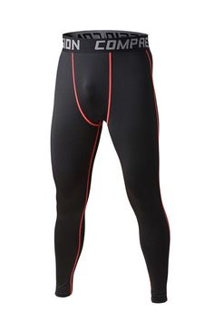 Mens compression pants sports running tights basketball gym pants bodybuilding jogger jogging fitness skinny leggings trousers